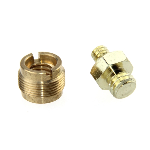 "DSLR Brass Screw Adapter 1/4"" to 3/8"" to 5/8"" for Microphone Stand Camera Cage"