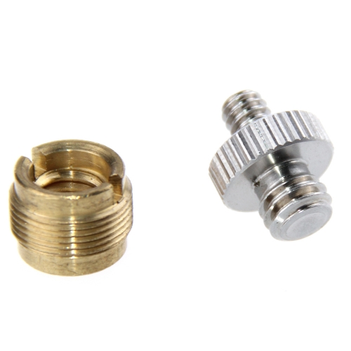 "CAMVATE Mic Stand Screw Adapter 3/8"" Female to 5/8"" Male & Double-ended Screw 1/4"" Male to 3/8"" Male"