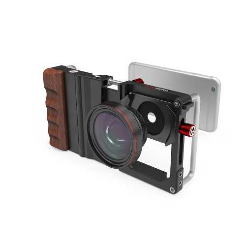 Cinema Mount Crafted Rosewood Ergonomic Grip Cellphone Lens Mount Rig CM-1 Black