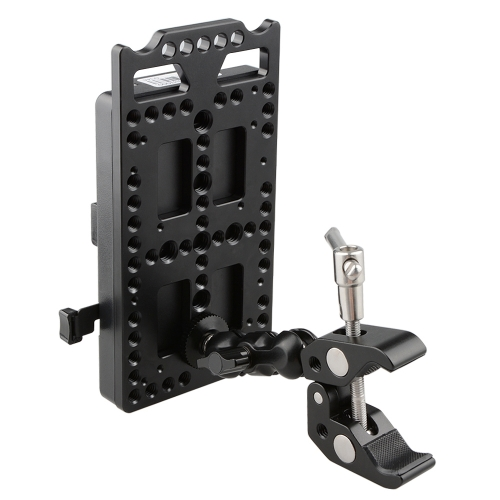 CAMVATE V Lock Mounting Plate Power Supply Splitter with Super Clamp Crab Pliers Clip Ball Head Mount