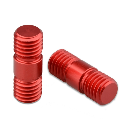 CAMVATE M12 Thread Rod Extension Connector (Red) for 15mm Rail Support System (pack of 2)