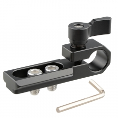 CAMVATE Single 15mm Rod Clamp with NATO Rail (Black Wingnut)