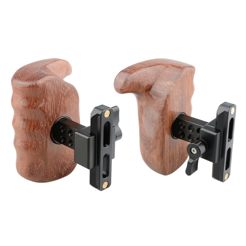 CAMVATE QR Wooden Handle Grip (left & right) for DSLR Cage