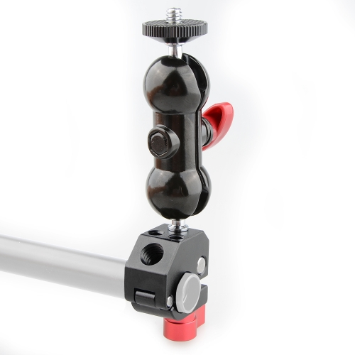 CAMVATE 15mm Quick Release Rod Clamp with 360° Rotating Double Ball Head Mount