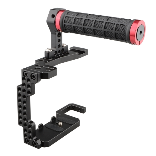 CAMVATE Camera Cage Rig with Rubber Handle Grip for a7II/a7RII/a7SII