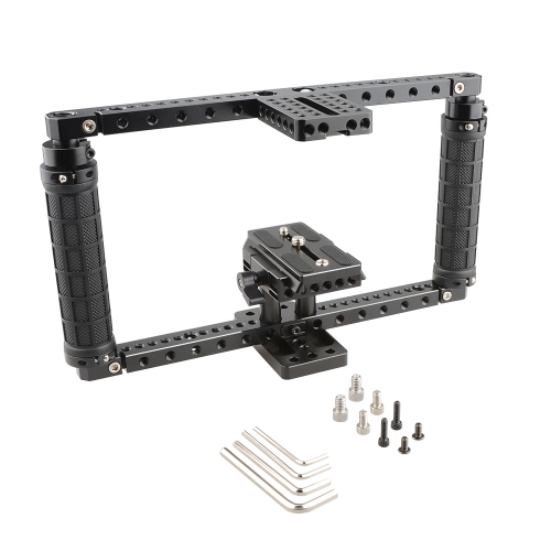 CAMVATE  Adjustable Cage with Quick Release Baseplate (Battery Grip)