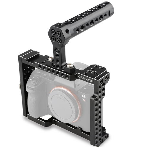 CAMVATE Camera Cage Rig with Top Handle Grip for Sony A7 Series