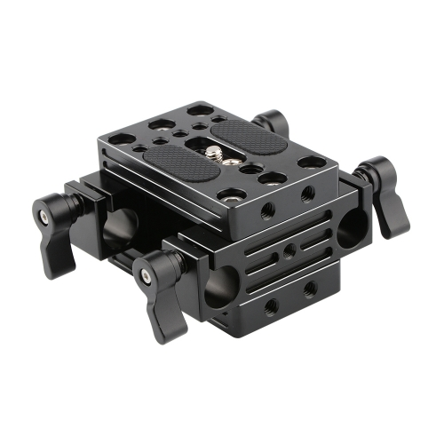 CAMVATE Support Base Plate with 15mm Rod Clamp Railblocks