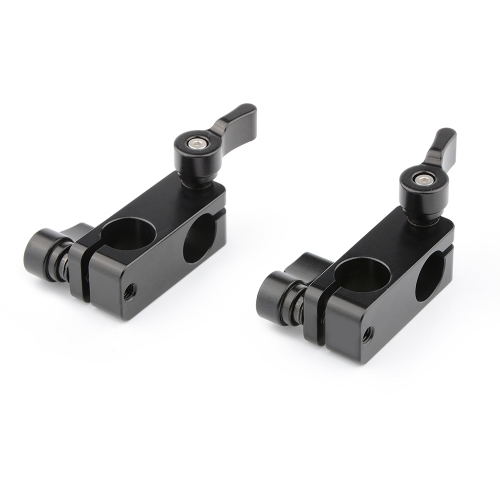CAMVATE 90-Degree Rod Rig Adapter Clamp (Black, 2-Pack)