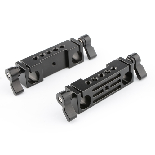 CAMVATE Rod Clamp 15mm Railblock (Black, 2-Piece)
