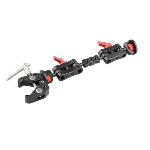 CAMVATE Ultra Articulating Arm with Crab Clamp (Red)