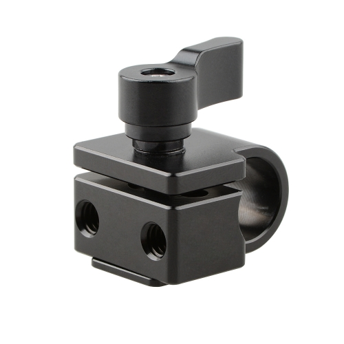 CAMVATE Shoe Mount to 15mm Rod Clamp Adapter