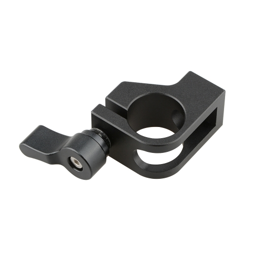 CAMVATE 19mm Rod Clamp With Thumb Knob (Black)