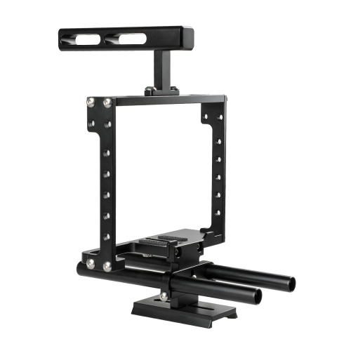 CAMVATE Universal Camera Cage Rig With Double Rod Setup
