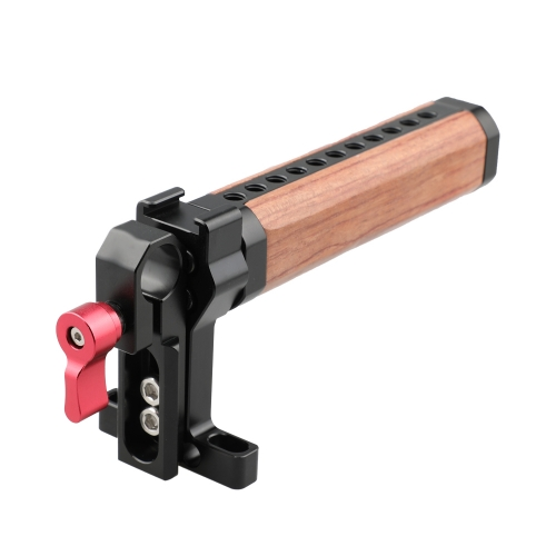 CAMVATE Top Cheese Handle Wooden Grip with Rod Clamp (Red Thumbscrew)