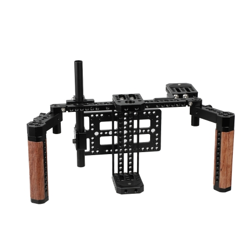 CAMVATE Director's Monitor Cage Kit with Wood Handles