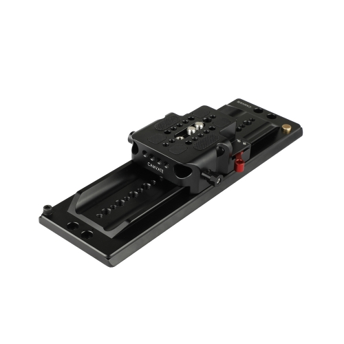 "CAMVATE ARRI 12"" Dovetail Bridge Plate And QR Base Plate With Double Rod Adapter"
