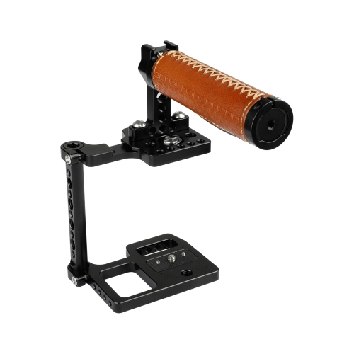 CAMVATE BMPCC 4K Camera Cage With Leather Top Handle And Shoe Mount