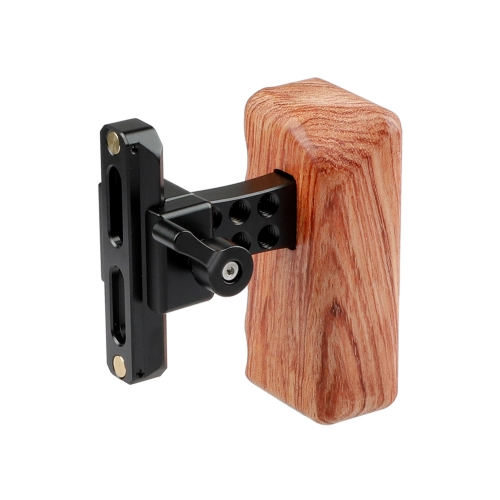 CAMVATE DSLR Wood Wooden Handle Grip (Right Hand) with Swat Rail Clamp & safety rail(70mm)