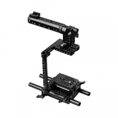 Camera Cage Rig w/Top Handle Tripod Mount Plate fr Canon Nikon Sony Panasonnic