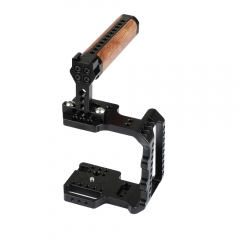 CAMVATE Professional Half Cage With Wooden Handle & Shoe Mount For BMPCC 4K