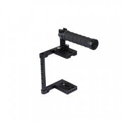CAMVATE Universal Camera Cage Rig With Tripod Mount Baseplate For Canon Nikon Sony Panasonic