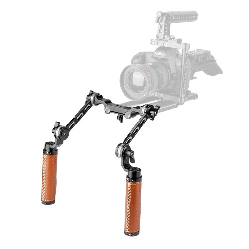 CAMVATE ARRI Rosette Dual Handgrip With Adjustable Extension Arm For DV Camcorder Handheld Shoulder Rig