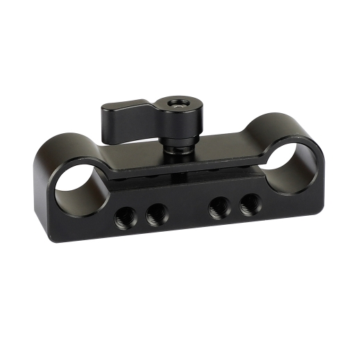 "CAMVATE 15mm Dual Rod Clamp Adapter With 1/4""-20 & M4 Threads"