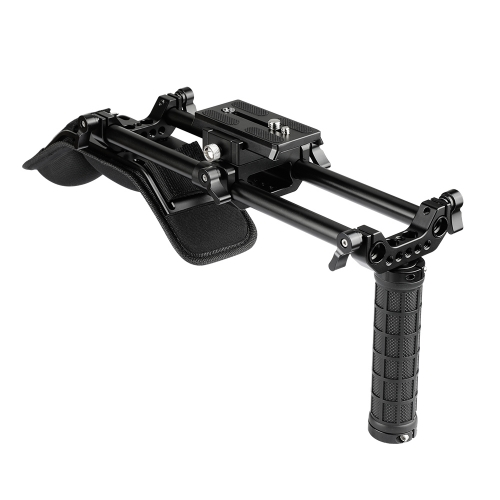 CAMVATE Shoulder Mount Kit With 15mm Rod System & Manfrotto QR Plate For DSLR Video Cameras And DV Camcorders