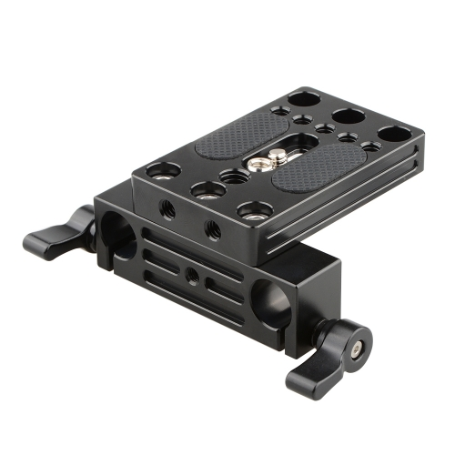 CAMVATE Camera Baseplate Integrated With 15mm Dual Rod Clamp For Shoulder Support Rig