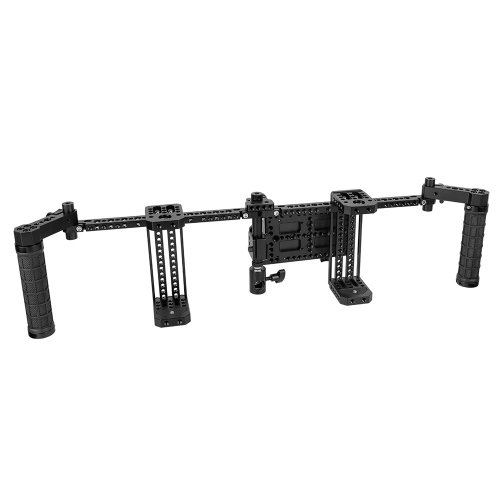 "CAMVATE 7"" Dual Director's Monitor Cage Rig With Rubber Grips & Power Supply Splitter"