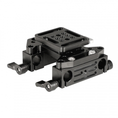 CAMVATE Quick Release V-Lock Mounting Battery Plate With 15mm Dual Rod Clamp Adapters