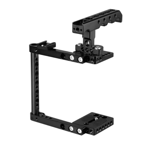 CAMVATE Camera Cage Kit With Top Cheese Handle & Shoe Mount For Canon 600D 70D 80D (Right-hand Mounted)