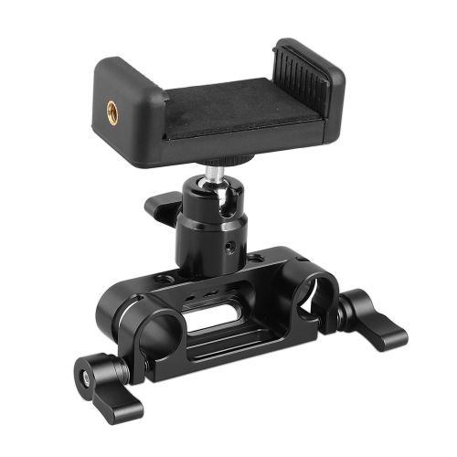 "CAMVATE Adjustable Cellphone Clip + 15mm Rod Clamp Adapter + 1/4""-20 Ball Head Mount"