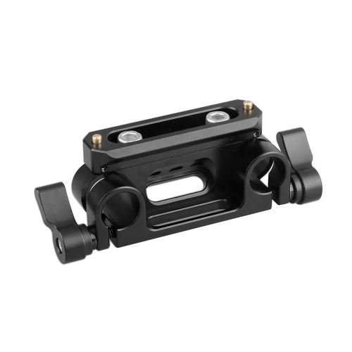 "CAMVATE 15mm Dual Rod Clamp Adapter With Mounting Groove 1/4"" Thread Holes + QR NATO Safety Rail 70mm"