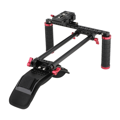 CAMVATE Shoulder Mount Supporting Kit With Manfrotto QR Plate & NATO Clamp & Rail For HDSLR Camera