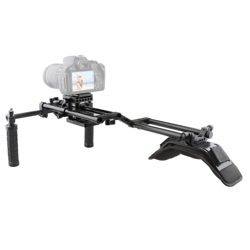CAMVATE Shoulder Mount Rig With Manfrotto QR Plate & Double 15mm Rail Rod System For DSLR Camera / DV Camcorder