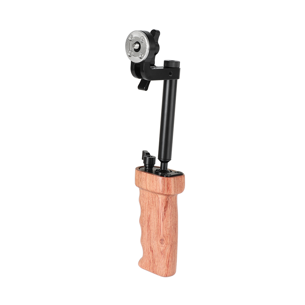 CAMVATE Triangle Connection Mount with 1//4-20 Thumbscrews for DSLR Camera Cage Wooden Handgrip