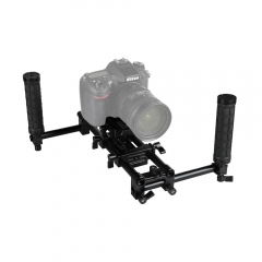 CAMVATE Handheld Camera Cage Rig With Manfrotto QR Plate & Rubber Grips For HDSLR Camera / Camcorder