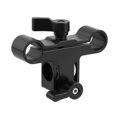 CAMVATE 15mm Single & Dual Railblock Rod Clamp Combination Perpendicular Type For DSLR Camera Shoulder Rig