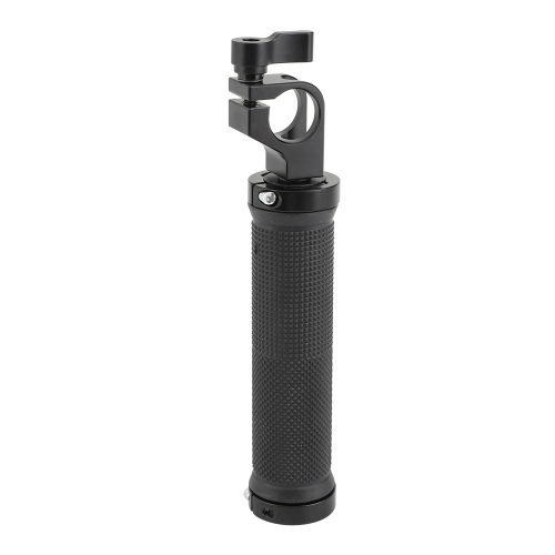 CAMVATE Rubber Handgrip With 19mm Single Rod Clamp Adapter For DSLR Camera Rod Supporting Rig