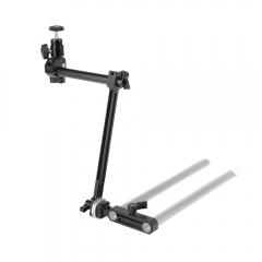 CAMVATE DSLR Camera Monitor Supporting Shaft With ARRI Rosette Connection & 15mm Rod Clamp Adapter