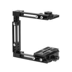 CAMVATE Self-configuration Half Cage Kit With QR Manfrotto Plate For Nikon D3200 / D3300 / D5200 / D5500 / D7000 / D7100 etc