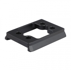 "CAMVATE Manfrotto Style Quick Release Base Plate Adapter With 1/4"" Mounting Points For DSLR Camera Cage Rig"
