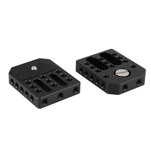 "CAMVATE Universal Base Plate Cheese Plate With 1/4"" Threads For Director's Monitor Cage Kit (2 Pieces)"