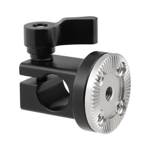 CAMVATE 15mm Single Rail Rod Clamp With M6 ARRI Style Rosette Mount For DSLR Camera Cage Handgrip
