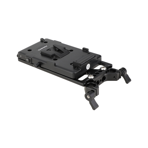 CAMVATE V Lock Mounting Plate Power Splitter Adapter with Battery Backboard Cheese Plate & 15mm Rod Clamp