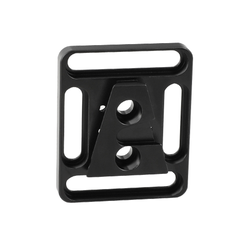 "CAMVATE Quick Release Male V Lock Wedge Mount + Base Plate With 1/4""-20 Mounting Points & Grooves"