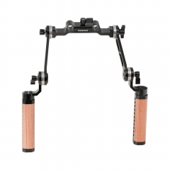 CAMVATE ARRI Style Rosette Hand Grips (A Pair) With 15mm Rail Rod Clamp Adapter For DSLR Camera Shoulder Mount Rig
