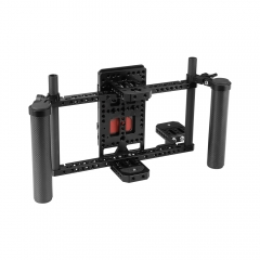 "CAMVATE Director's Monitor 7"" & 5"" Cage Rig With Power Supply Splitter & Dual Carbon Fiber Handgrip"